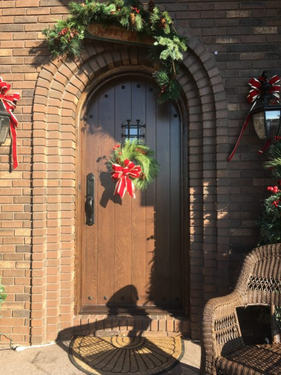 Custom QS oak arched front door