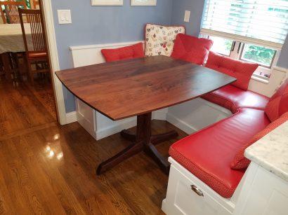 Custom Walnut Kitchen Table