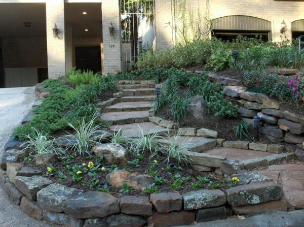 rock borders stevens landscaping