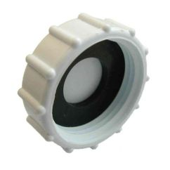 Kitchen Sink Drain Kit White Shaker Cabinets 1 Inch Bsp Plastic Cap / Blank Nut With Washer - Stevenson ...