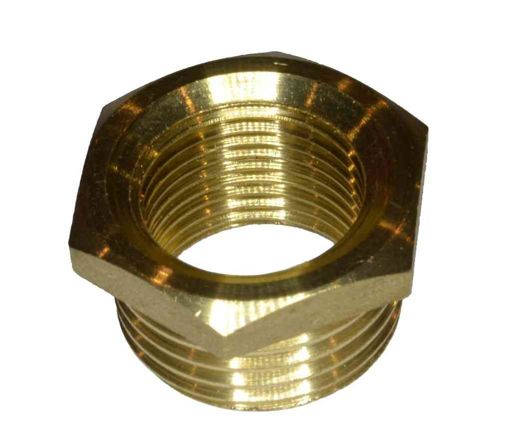 1 2 X 3 8 Bsp Brass Hex Reducing Bush