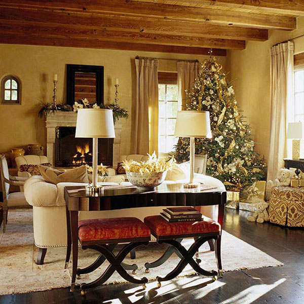 elegant christmas living room decor cabinets with doors fireplace cool simply decoration ideas beautiful rooms wooden beams ceiling