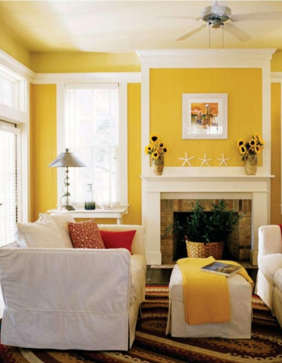 paint colors for living rooms with white trim room packages under 1000 interior design beautiful yellow modern sunny make your feels warm
