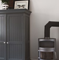 Furniture: The Dark Charcoal Grey Paint Of The Wardrobe At ...