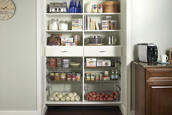 kitchen pantry ideas fan cover tips storage with metal baskets country fine designed shelving lively design