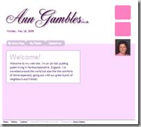 Ann's website - AnnGambles.co.uk
