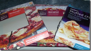 Pizzas - one each!!!