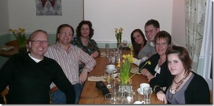 Left: Ann, me, Roy. Right: Janine, John and Lauren