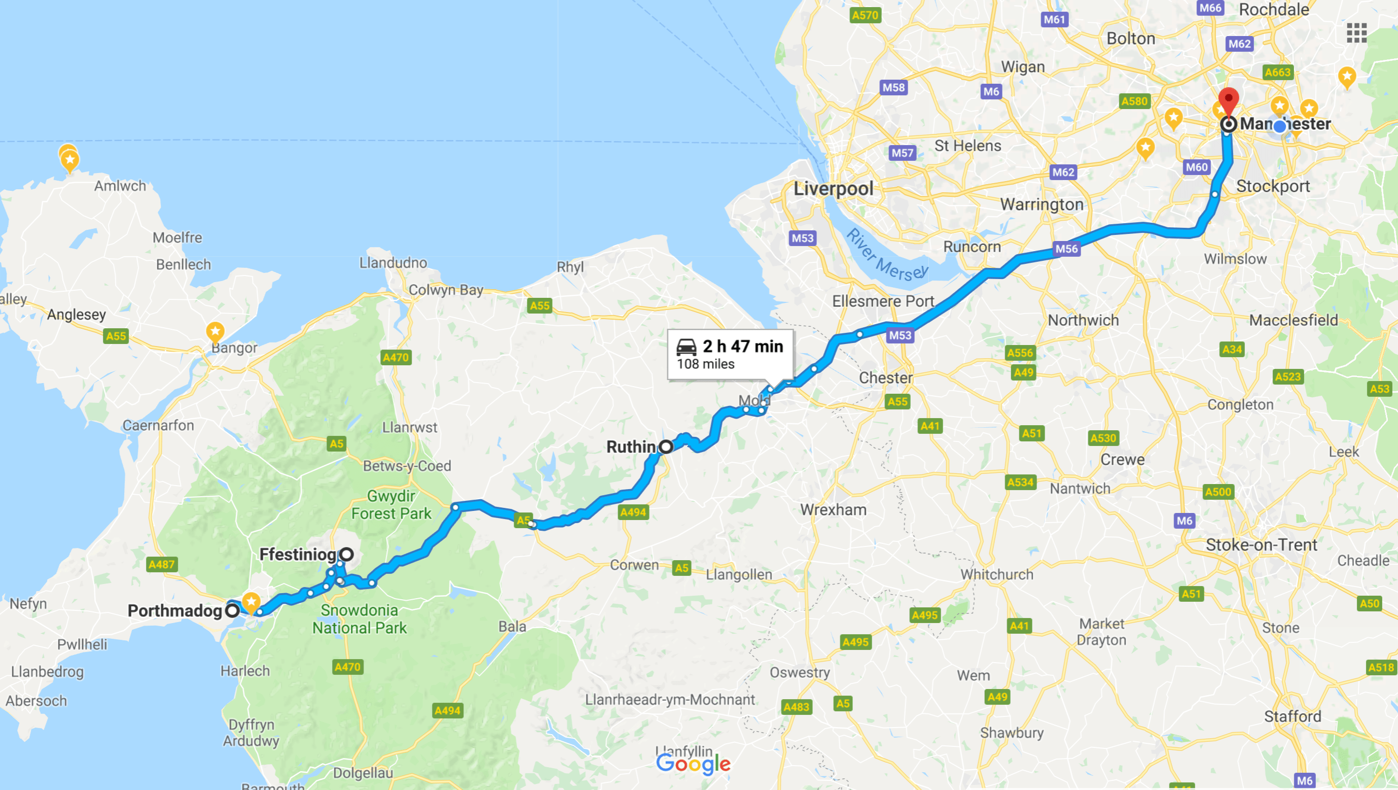 journey to Wales July 2018
