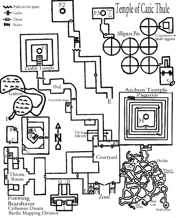EQ Accursed/Lost Temple of Cazic-Thule maps
