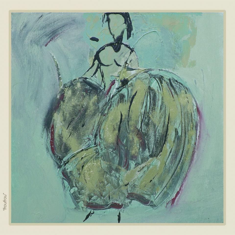 """""""Froufrou"""" - Peinture - Painting - Visa Mundi - Steve Shehan"""