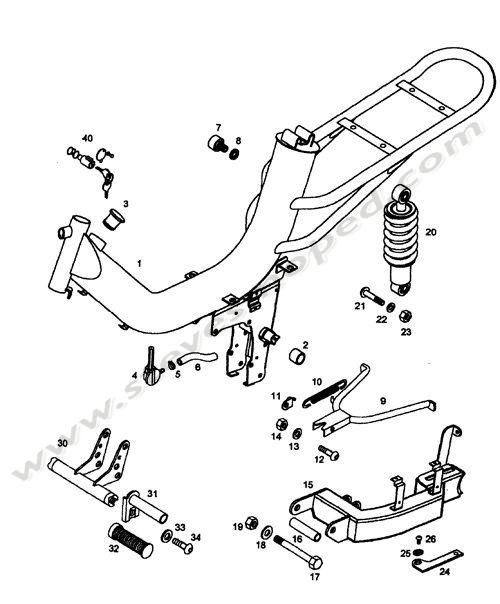 Catalogs / TOMOS ARROW A35 /FRAME, SWING ARM, KICKSTAND