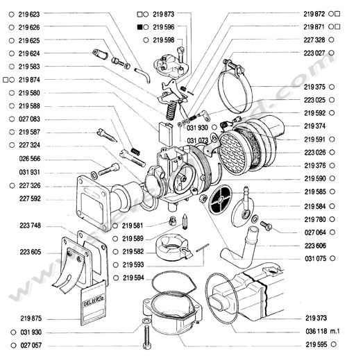 Catalogs / TOMOS BULLET A35 /CARBURETOR, INTAKE MANIFOLD