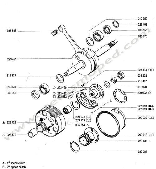Catalogs / TOMOS BULLET A35 /CRANKSHAFT,CLUTCH
