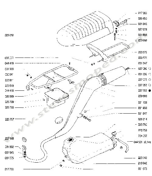 Catalogs / TOMOS BULLET A35 /EXHAUST SYSTEM, FUEL TANK, SEAT