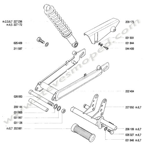Catalogs / TOMOS BULLET A35 /SWING ARM, REAR SHOCK ABSORBER