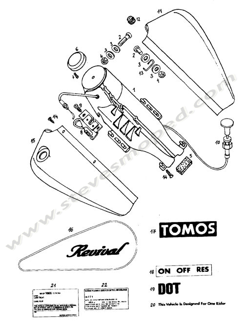 Catalogs / TOMOS REVIVAL A35 /FAUX TANK, DECALS