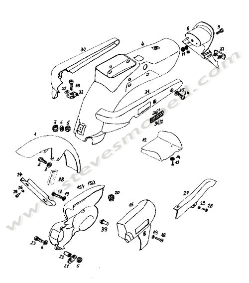 Catalogs / TOMOS REVIVAL A35 /FENDERS, SIDE COVERS, SIDE