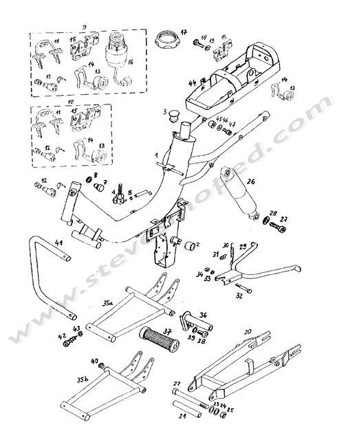 Catalogs / TOMOS REVIVAL A35 /FRAME, SWING ARM, KICKSTAND