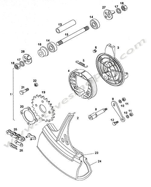 Catalogs / TOMOS SPRINT A55 /REAR WHEEL