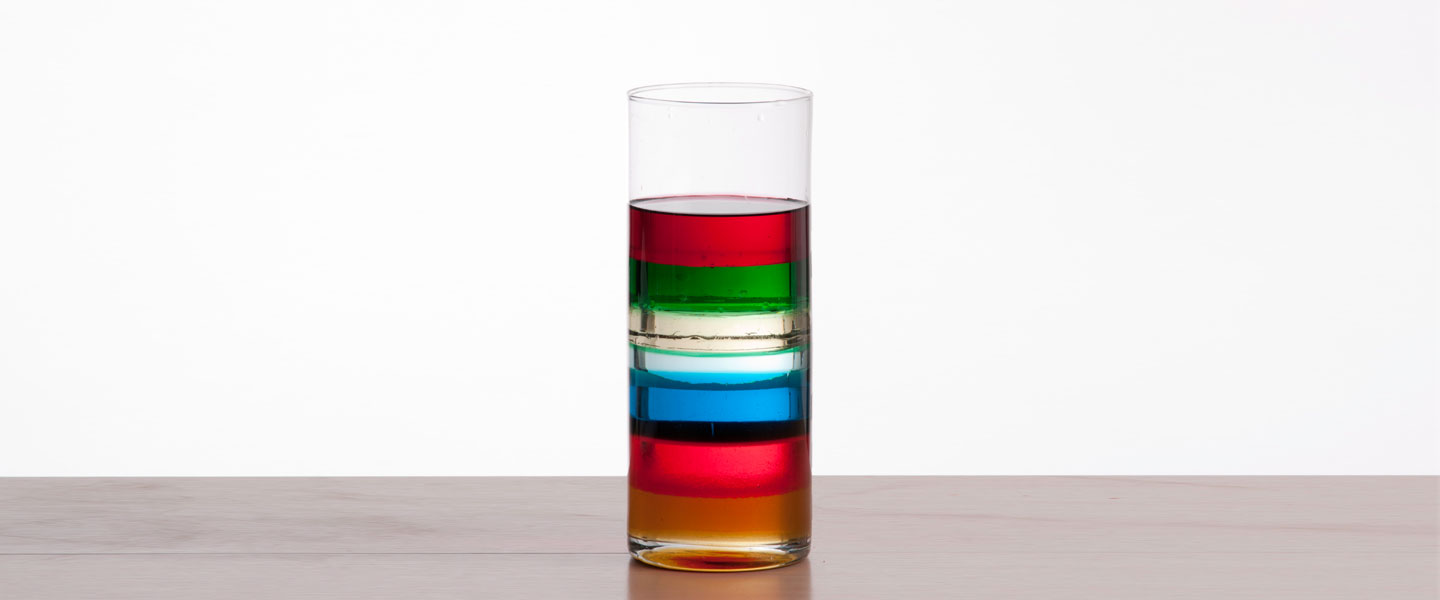 hight resolution of Seven-Layer Density Column   Science Experiment