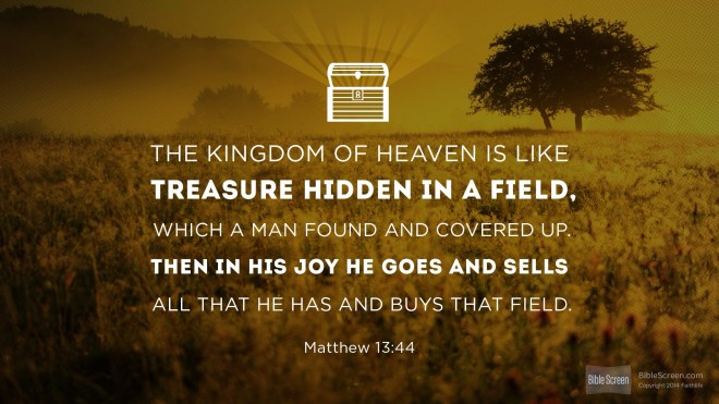 treasure in a field
