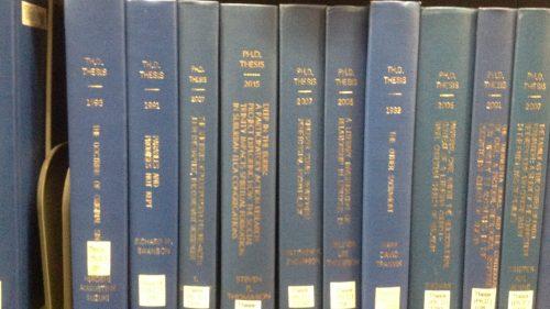 dissertation on shelf