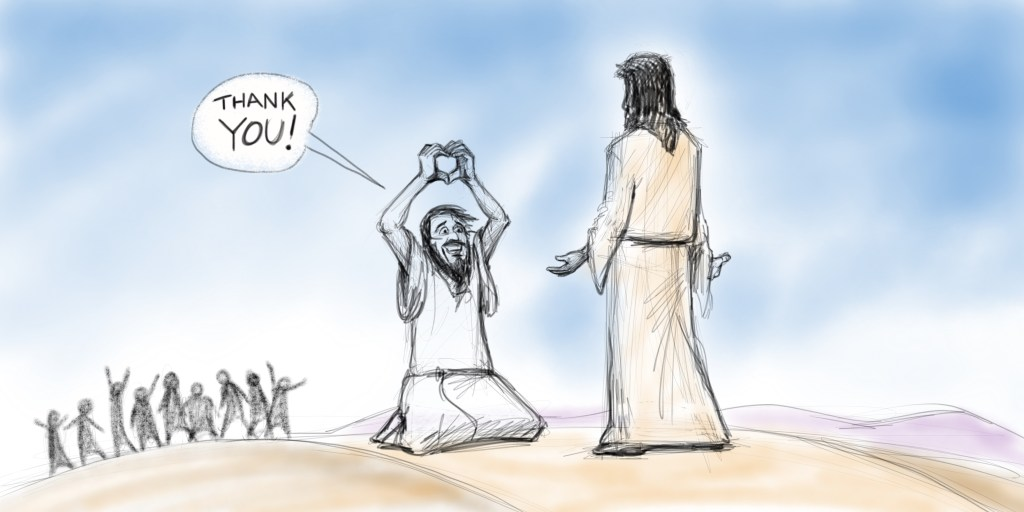 One Said Thank You | A Sketch for Thanksgiving from Luke 17:11-17