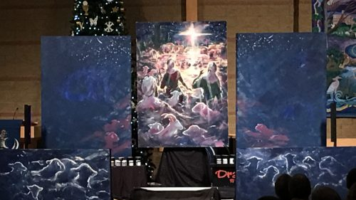 The finished paintings