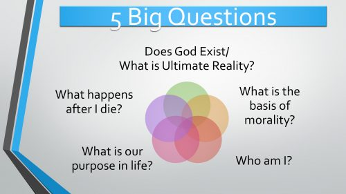Five big worldview questions