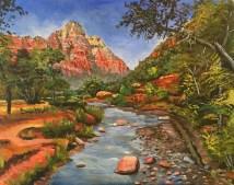 Acrylic on canvas - Zion