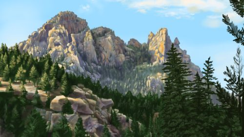 Cathedral Rock Procreate Painting