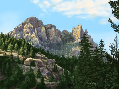 Cathedral-Rock-Procreate-Painting
