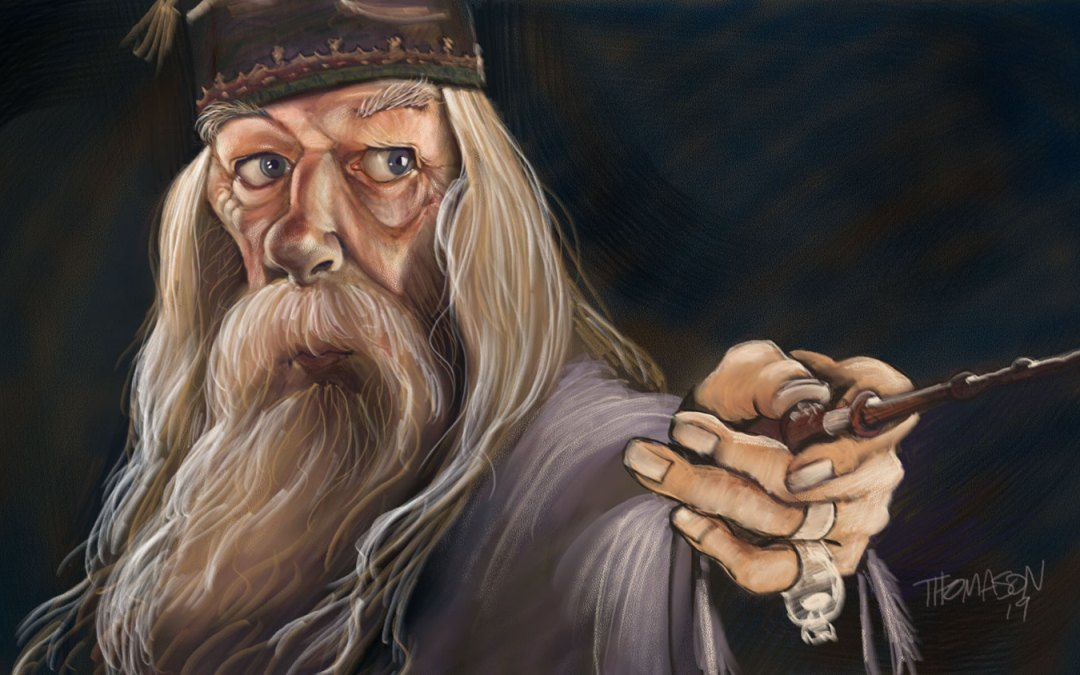 Another Day Off Doodle – Dumbledore Caricature