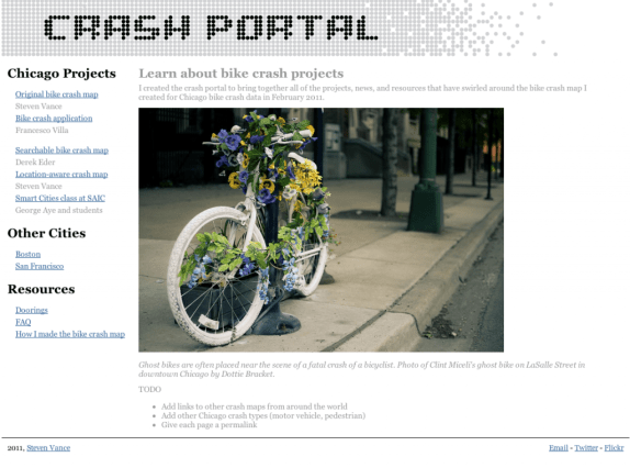 Screenshot of new Crash Portal