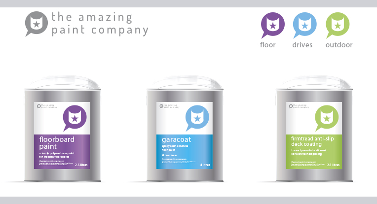 Packaging for The Amazing Paint Company