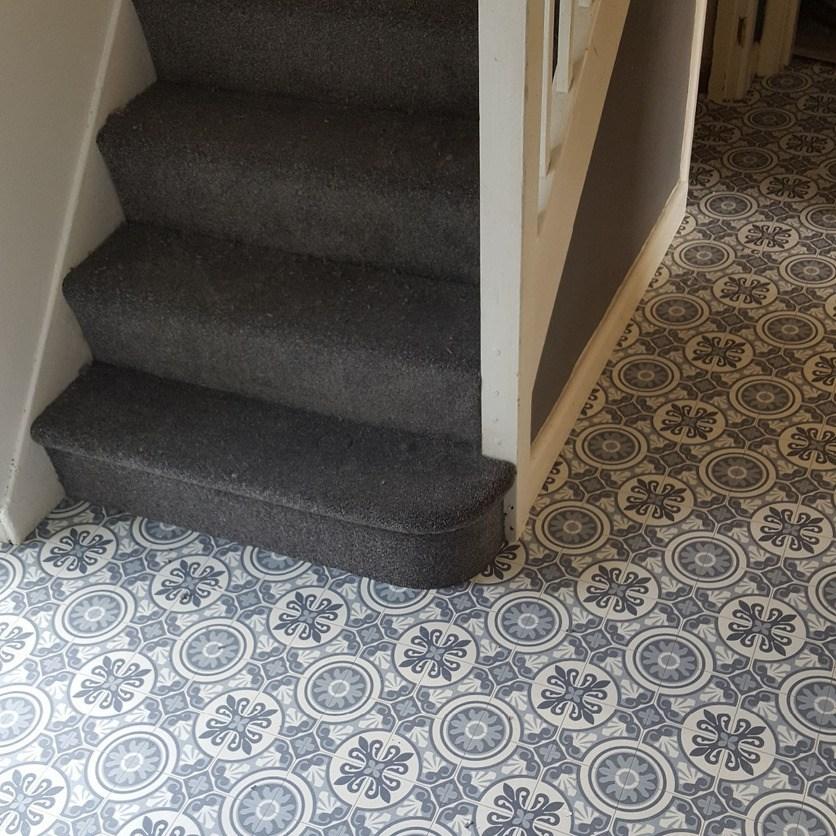 Projects At Steve Whitburn Flooring Torquay   Felt Back Carpet On Stairs   Stair Treads   Loop Feltback   Rolls Flecked   Purple   Flooring