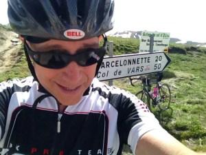 Steve Wilkison on the Col d'Allos, France