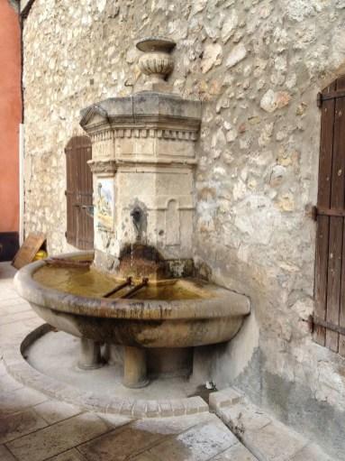 Fountain in La Roquette-sur-Var, France
