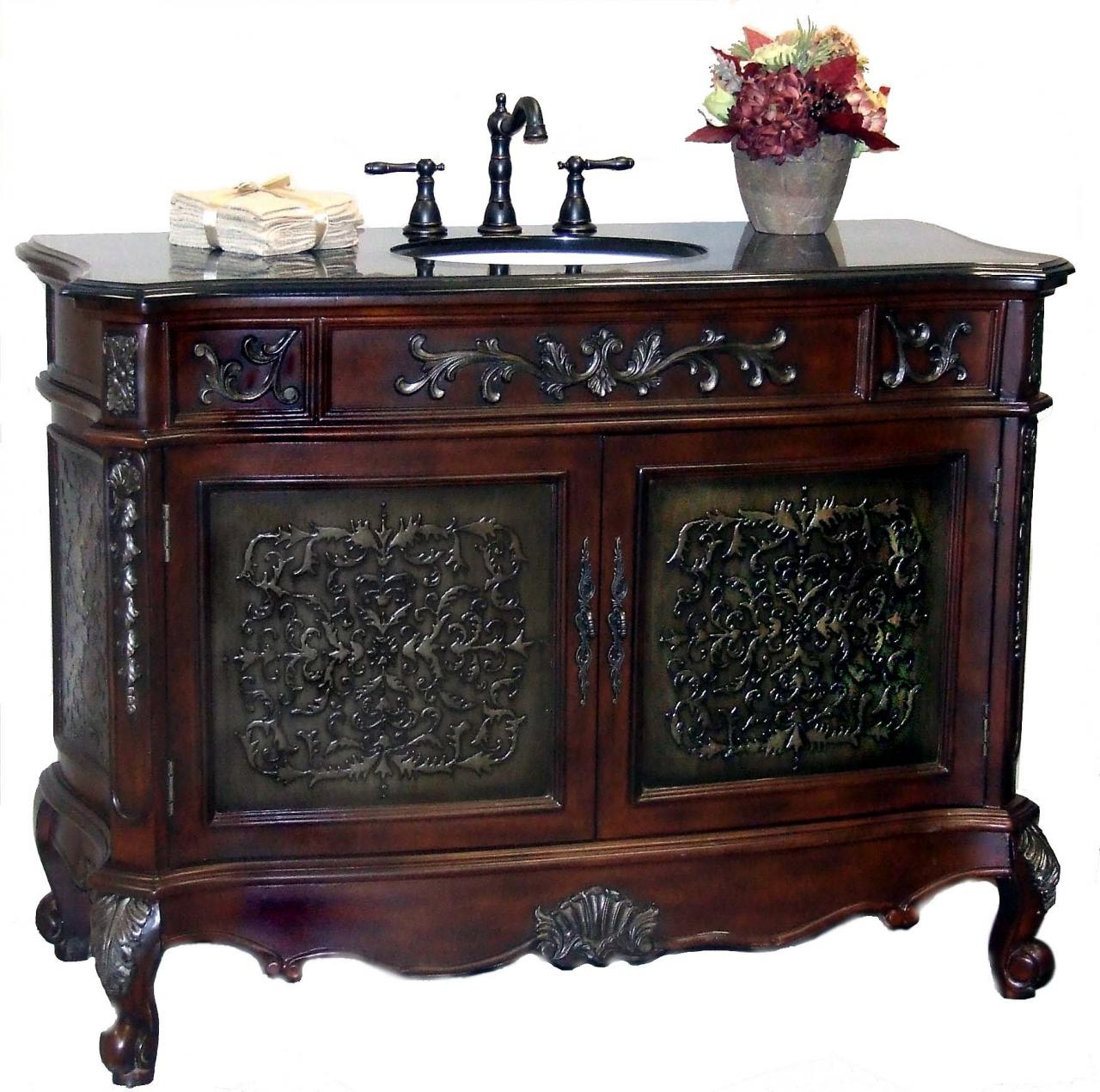 Updating With Antique Bathroom Vanity  Interior Design
