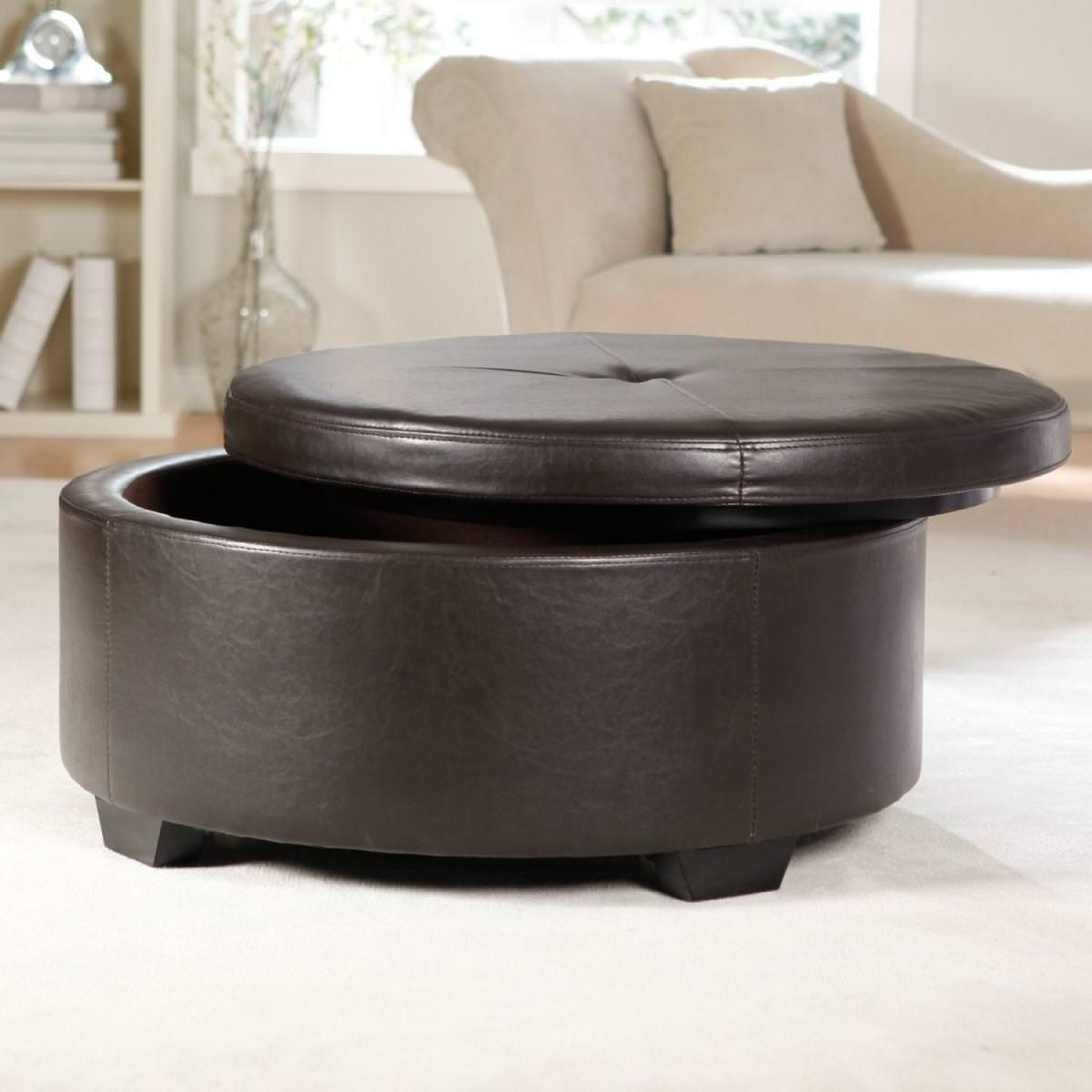 ottoman as coffee table will be the