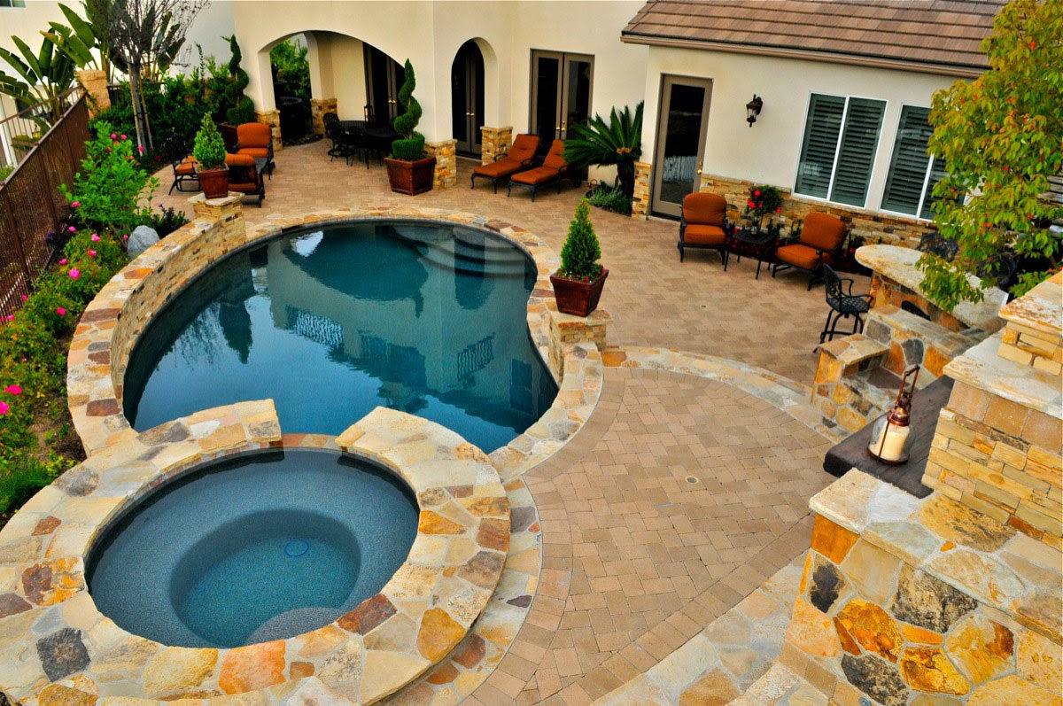 Best Inspirations For Backyard Designs with Pool  Interior Design Inspirations