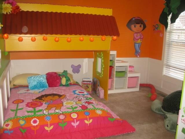 Dora The Explorer Themed Bedroom For Kid Interior