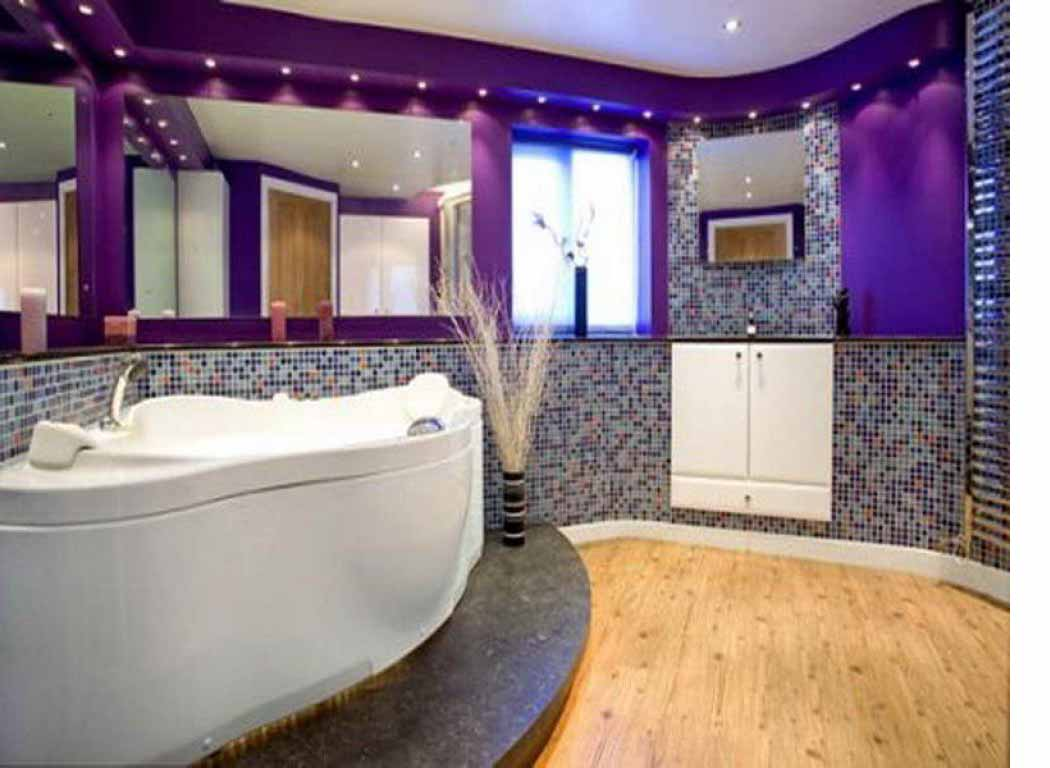 10 Impressive Bathroom Designs In Purple  Interior Design