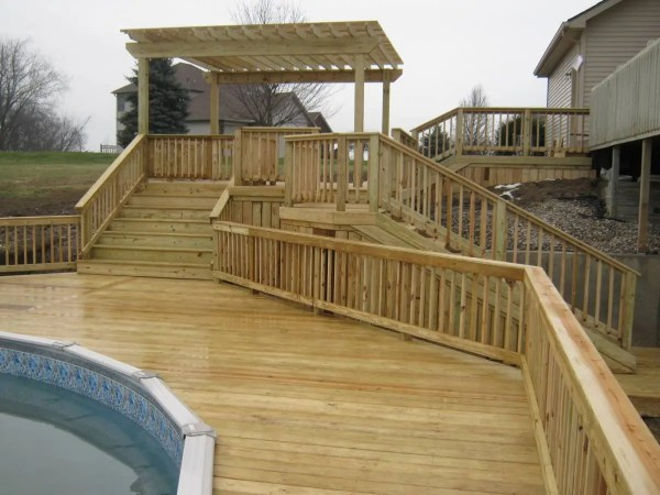 20 Pool With Two Level Deck Designs Pictures And Ideas On Carver Museum