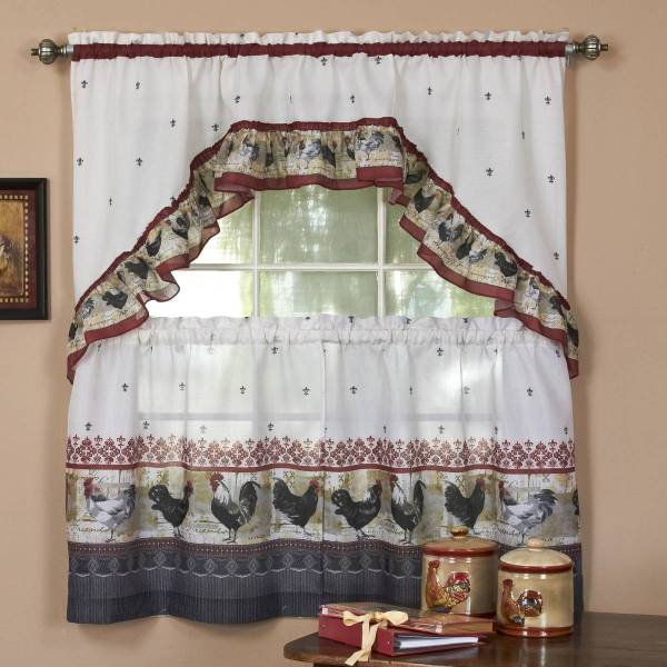 Kitchen Curtains with Roosters