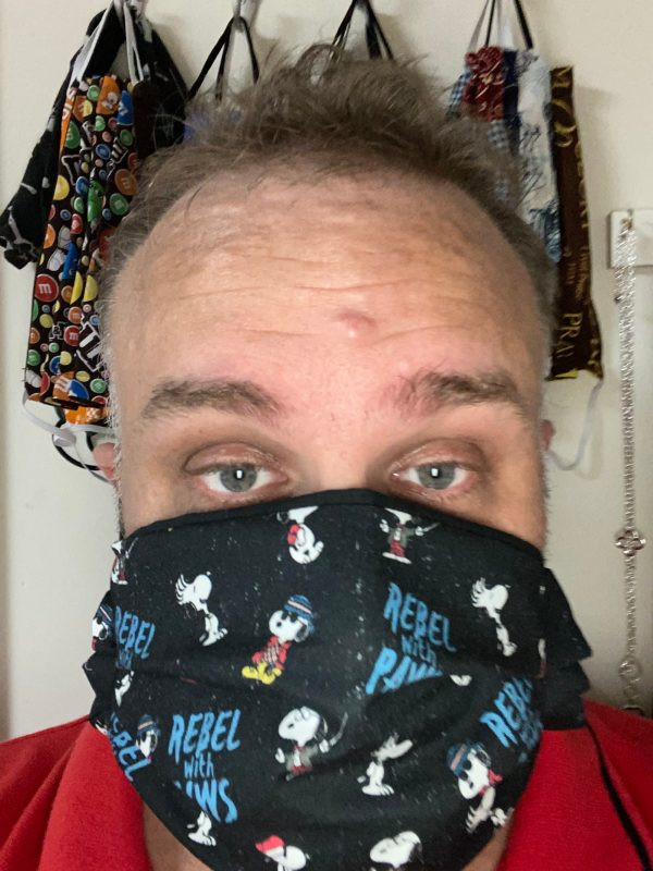 Snoopy Rebel with Paws Face Mask