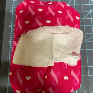 Pink Ribbon Pocket Tissue Holder - This is a Pink Ribbon (Breast Cancer Awareness) pocket-sized tissue holder. #PinkRibbon (Pink Ribbon Pocket Kleenex Holder)
