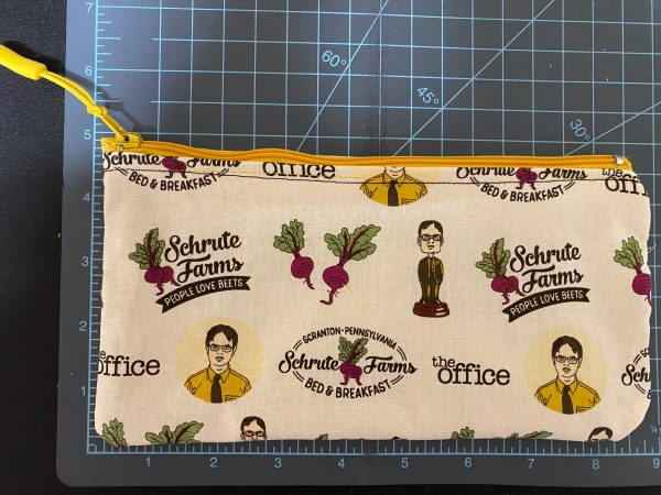 The Office Zipper Pouch - a zipper pouch based off the TV show The Office and the Schrute Farms Bed & Breakfast where people love beets. #TheOffice