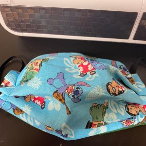 Lilo & Stitch Face Mask a face mask with both Lilo and Stitch on it. #Lilo #Stitch #LiloStitch